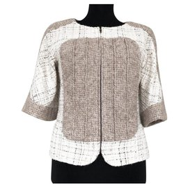 Chanel-Runway Supermarket tweed jacket-Beige
