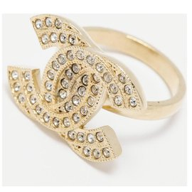 Chanel-Chanel, GOLDEN CC RHINESTONE T50/51-Golden