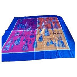 Hermès-Hermès silk scarf-Blue