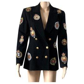 Chanel-Chanel jacket - Multicolored badges-Black