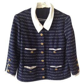 Chanel-Jackets-Navy blue