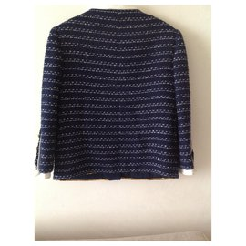 Chanel-Vestes-Bleu Marine