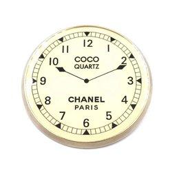 Chanel-Chanel CC Clock Quartz Brooch-Golden