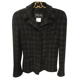 Chanel-Jackets-Black,Dark grey