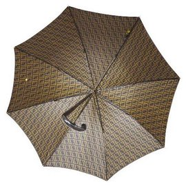 Fendi-Rare Vintage Pumpkin FF Umbrella-Brown