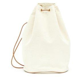 Hermès-EX LIBRIS CANVAS BACKPACK-Cream