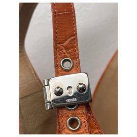 Hermès-Des sandales-Orange