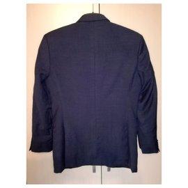 Ermenegildo Zegna-Trofeo 2 buttons Single breasted Grey Suit Jacket, Size S-Grey