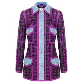 Chanel-very special tweed and denim jacket-Multiple colors