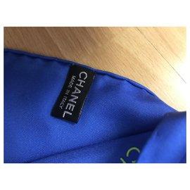Chanel-SCARF CHANEL SILK-Blue