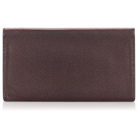 Hermès-Hermes Brown Leather MC2 Wallet-Brown,Dark brown