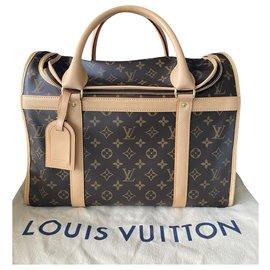 Louis Vuitton-sac chien 40 - TJ 0178-Marron