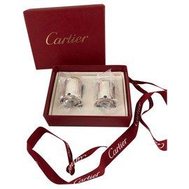 Cartier-Cartier salt and pepper shakers-Silvery
