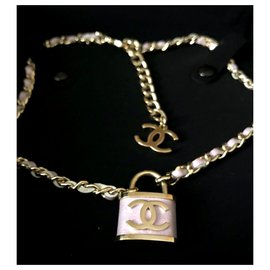 Chanel-Chanel padlock necklace-Purple