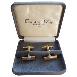 Christian Dior-Cufflinks-Golden