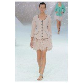 Chanel-runway tweed jacket-Pink