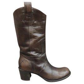 Costume National-boots C'N'C 'National Costume p 35-Dark brown