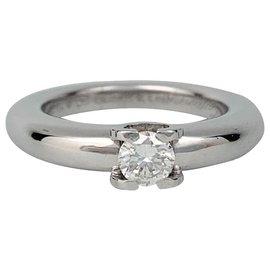 """Cartier-Solitaire Cartier, """"Louis Cartier"""", or blanc et diamants.-Autre"""