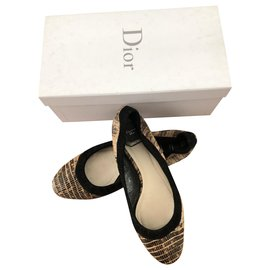 Christian Dior-Ballet flats-Brown,Black