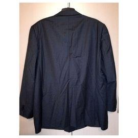 Ermenegildo Zegna-Su Misura Trofeo lined breasted Grey Suit Jacket, size 62 / XXL-Grey