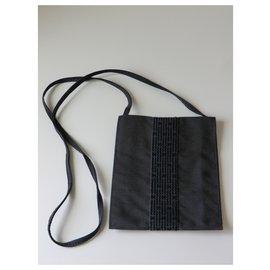 Hermès-Hermès canvas clutch.-Black