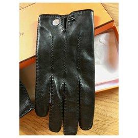 Hermès-Gloves Hermès cooked black-Black