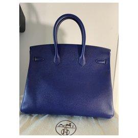 Hermès-HERMES BIRKIN 35VEAU EPSOM BLEU ENCRE BRAND NEW-Blue
