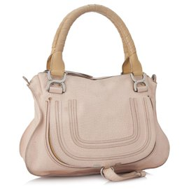 Chloé-Chloe Pink Marcie Leather Satchel-Pink,Other
