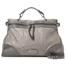 Mulberry-Mulberry Gray Taylor Leather Satchel-Grey