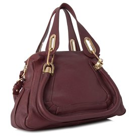 Chloé-Chloe Red Small Paraty Leather Satchel-Red,Other
