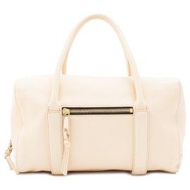 Chloé-Chloe White Madeleine Leather Boston Bag-White