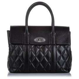 Mulberry-Mulberry Black Small Quilted Leather Bayswater Satchel-Black