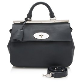 Mulberry-Mulberry Blue Small Suffolk Leather Satchel-Blue,Dark blue
