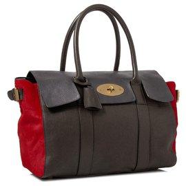 Mulberry-Mulberry Brown Bayswater Leather Handbag-Brown,Red,Dark brown