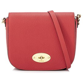Mulberry-Mulberry Red Small Darley Leather Crossbody Bag-Red