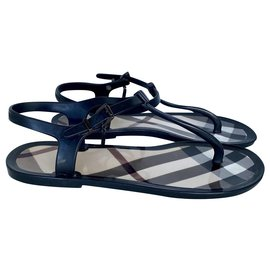 Burberry-Sandals-Black,Beige