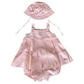 Baby Dior-Tenues-Rose,Blanc