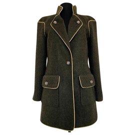 Chanel-unique Salzburg runway  jacket coat-Olive green