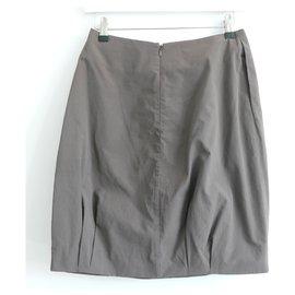 Marni-SS05 Twist Waist Skirt-Taupe