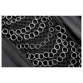 Christian Dior-SS07 Chain Trim Knit Dress-Black
