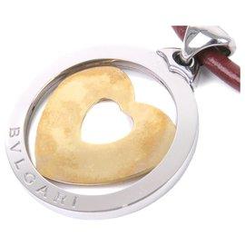 Bulgari-Collier pendentif coeur en or Tvondo Bvlgari-Argenté,Doré