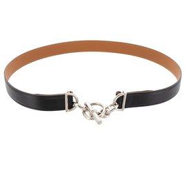 Hermès-Hermes Black Chain D Ancre-Black,Silvery