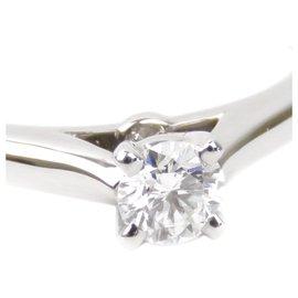 Cartier-Cartier Silver Diamond 1895 Bague solitaire-Argenté