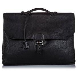 Hermès-Hermes Black Togo Sac a Depeches 41-Black