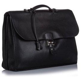 Hermès-Hermes Black Togo Sac à Depeches 41-Noir