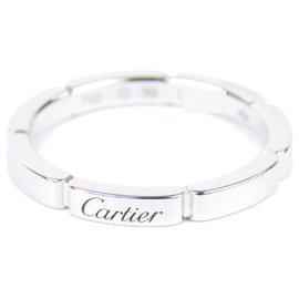 Cartier-Bague Cartier Argent Maillon Panthere-Argenté