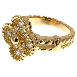 Van Cleef & Arpels-Bague Van Cleef and Arpels en or et diamant Alhambra-Argenté,Doré