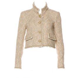 Chanel-fantasy tweed runway jacket-Beige