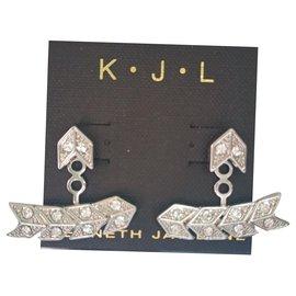 Kenneth Jay Lane-Earrings-Silvery