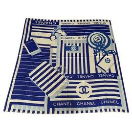 Chanel-STOLE CHANEL CASHMERE-Blue